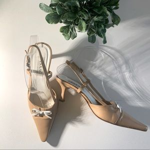 Perfect camel sling backs with bow
